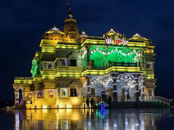 Prem Mandir of Vrindavan and Golden Temple in Amritsar