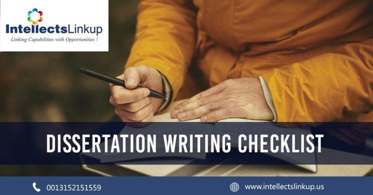 Dissertation Writing Checklist