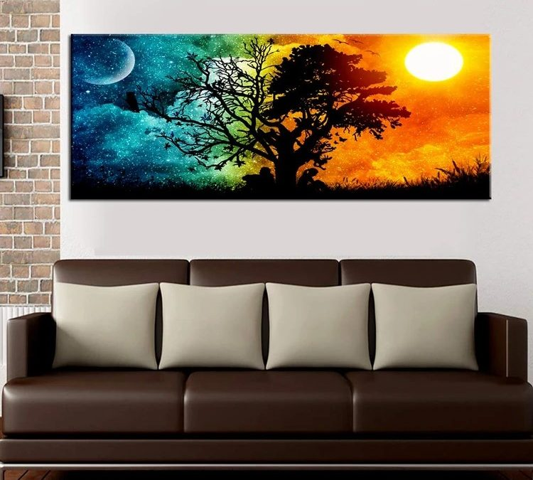 Decorating The Walls With Landscape Paintings
