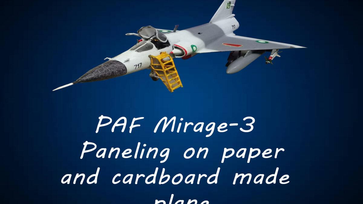 Pencil paneling on cardboard MIRAGE-III   Paneling on plane   DIY   DIY Hacks