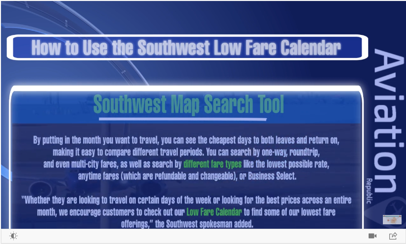 How to Use the Southwest Low Fare Calendar