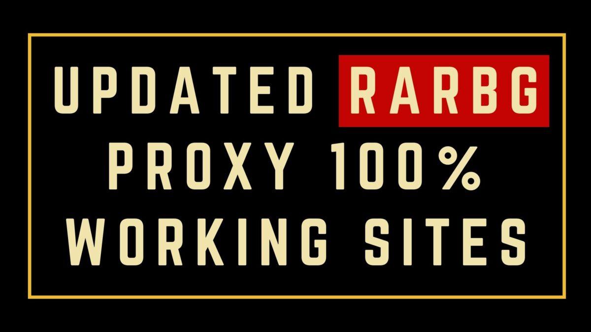 Latest Updated RARBG Proxy 100% Working Sites List